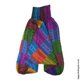 Multicoloured-Patchwork-Om-Harem-Pants