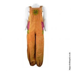 Orange-Hippy-Dungarees-with-Flower-Embroidery