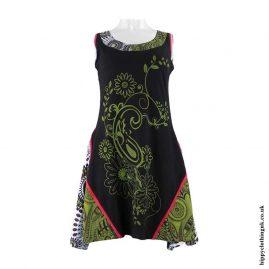 Paisley-Flower-Short-Hippy-Dress