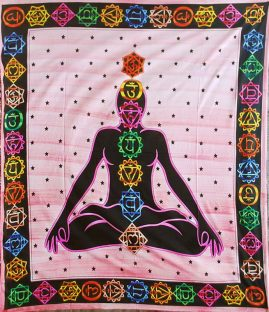 Red-Chakra-Hippy-Throw,-Bed-Spread,-Wall-Hanging