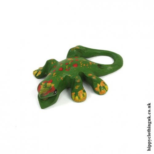 Small Hand Carved Calling Gecko