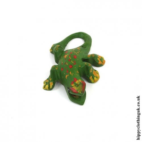 Small Hand Carved Calling Gecko - Front