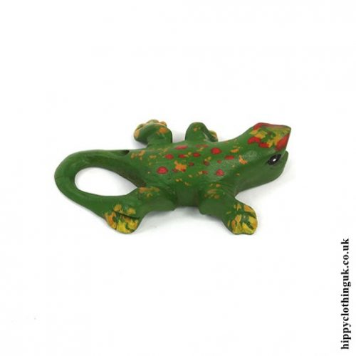 Small Hand Carved Calling Gecko - Side