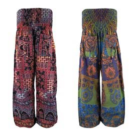 Straight Leg Patchwork Trousers