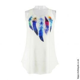 Cream-Feather-Hippy-Vest-Top-1