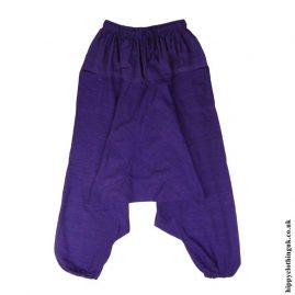 Purple-Plain-Cotton-Harem-Trousers