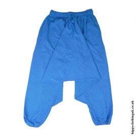 Turquoise-Plain-Cotton-Harem-Trousers