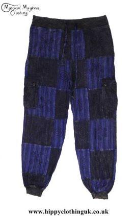 Blue-Cotton-Patchwork-Hippy-Trousers