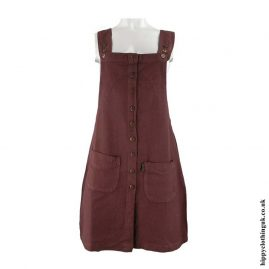 Brown-Cotton-Dungaree-Style-Dress