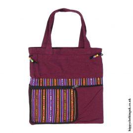 Burgundy-Fold-Out-Shopping-Bag