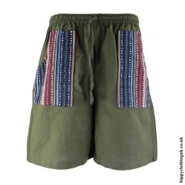Green-Cotton-Gheri-Pocket-Shorts