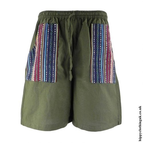 Green-Cotton-Gheri-Pocket-Shorts