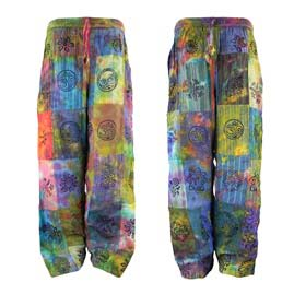 Tie Dye Patchwork Trousers