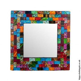 Multicoloured-Square-Mosaic-Mirror-20cm