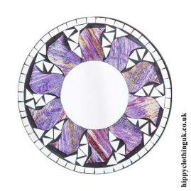 Purple-Glitter-Effect-Round-Sun-Mosaic-Mirror