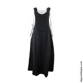 Black-Midi-Dungaree-Dress