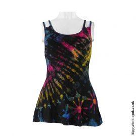 Black-Multicoloured-Tie-Dye-Multi-Strap-Vest