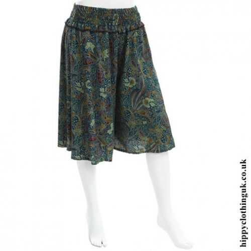 Blue Butterfly Print Culottes