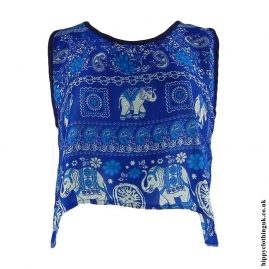 Blue-Thai-Elephant-Open-Back-Hippy-Top