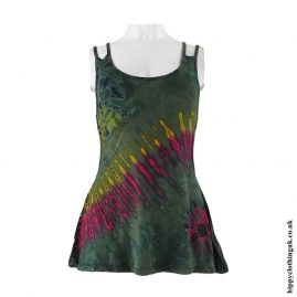 Green-Multicoloured-Tie-Dye-Multi-Strap-Vest