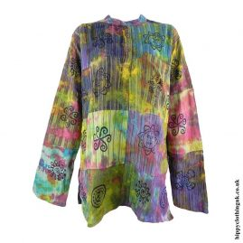 Multicoloured-Tie-Dye-Patchwork-Grandad-Shirt