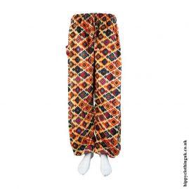 Orange-Patterned-Harem-Genie-Pants
