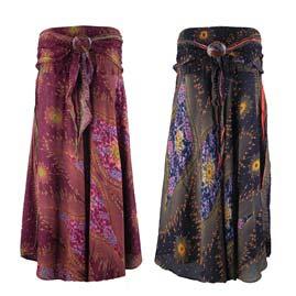 Peacock Print Skirts