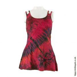Red-Multicoloured-Tie-Dye-Multi-Strap-Vest1