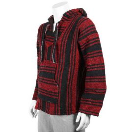 Red-and-Black-Mexican-Jerga-Baja-Hooded-Hippy-Top