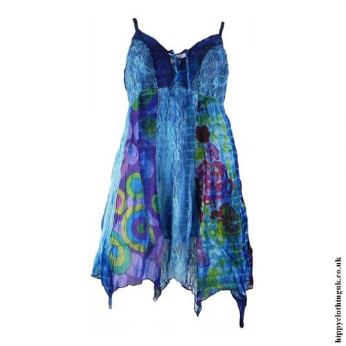 Blue-Cotton-Pointed-Pixie-Hippy-Blouse-Top
