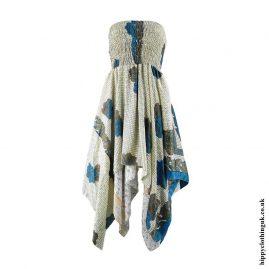 Cream-Recycled-Sari-Pixie-Hem-Hippy-Dress-Skirt