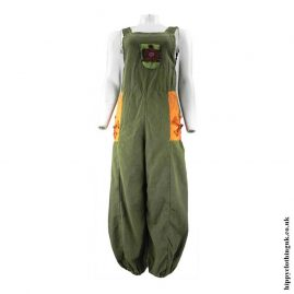 Green-Hippy-Dungarees-with-Flower-Embroidery