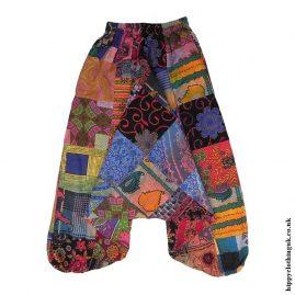 Multicoloured-Hippy-Patchwork-Harem-Ali-Baba-Trousers