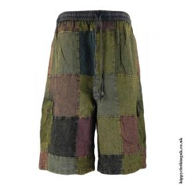 Multicoloured-Long-Patchwork-Shorts