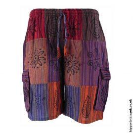 Multicoloured-Patchwork-Hippy-Shorts