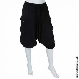 Plain Black Ali Baba Shorts New1
