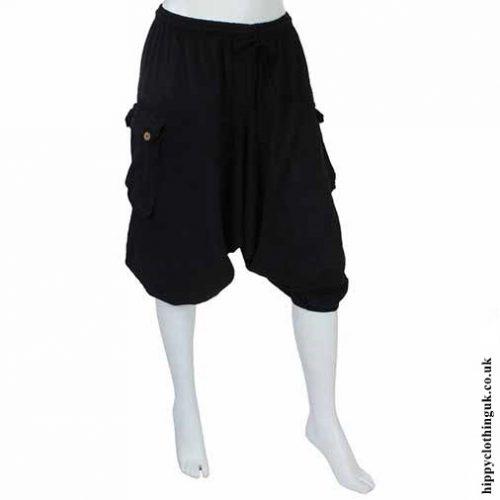 Plain Black Ali Baba Shorts New1