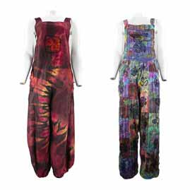 Tie Dye Hippy Dungarees