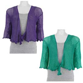 3/4 Length Sleeve Bali Knit Shrug/Cardigan
