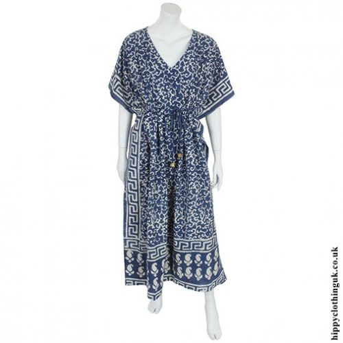 Blue Batik Kaftan