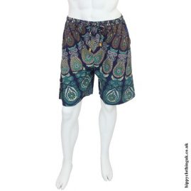 Blue Male Throw Shorts