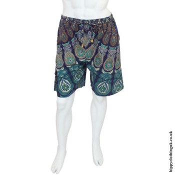 Blue Male Throw Shorts