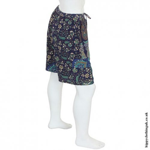 Blue Male Throw Shorts Back
