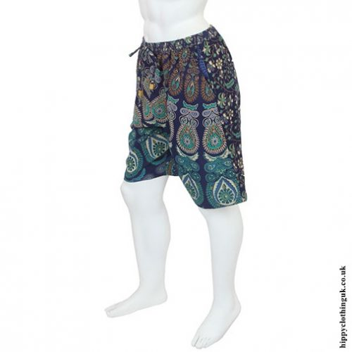 Blue Male Throw Shorts Side