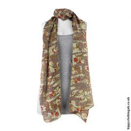 Brown-Recycled-Sari-Scarf