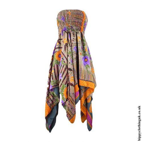 Colour-Mix-Recycled-Sari-Pixie-Hem-Hippy-Dress-Skirt