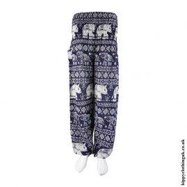 Dark-Blue-Elephant-Print-Harem-Pants
