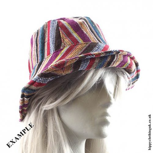 Gheri Cotton Hat Example Rolled Brim