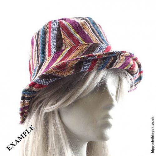 Gheri Cotton Hat Example Rolled Brim