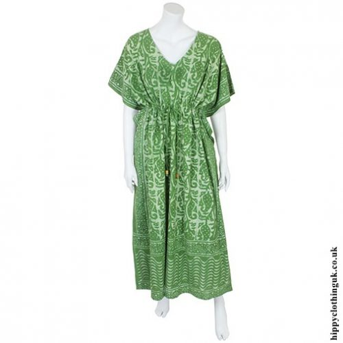 Green Batik Kaftan